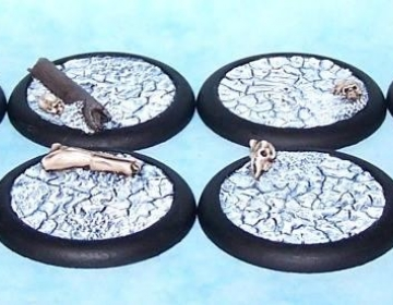 40mm Cursed Earth bases - painted as ice effect